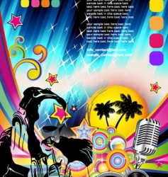 discotheque Dj flyer vector image