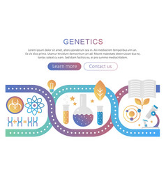 Dna genetics and bioengineering research vector