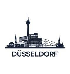 Duesseldorf Skyline Emblem vector image