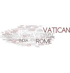 Enclave word cloud concept vector