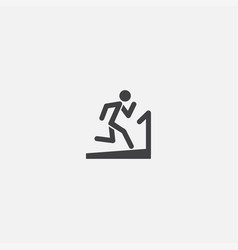 fitness base icon simple sign vector image