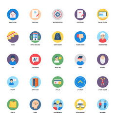 Flat rounded icons pack vector
