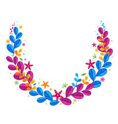 Floral simplify wreath vector