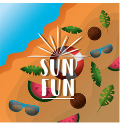 fun summer vacation vector image
