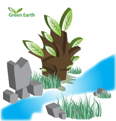 Green eart eps10 vector