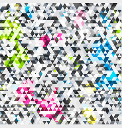 Grunge triangle seamless pattern vector