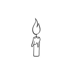 halloween candle doodle element isolated vector image