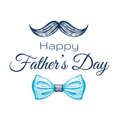 Happy father s day card cute poster with vector