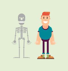 human and skeleton vector image
