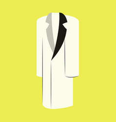 icon in flat design fashion clothes long coat vector image
