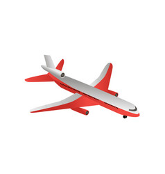 iron bird plane in the sky jet plane with vector image