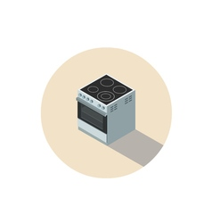Isometric of electric cooker stove kitchen vector