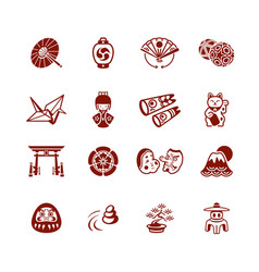 japanese icons - micro series vector image