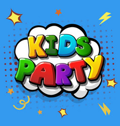 kids party colorful template background vector image