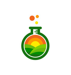 Lab farm logo icon design vector