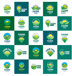 Logo farm food vector