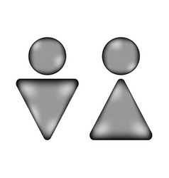 Male and female sign icon vector