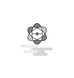 nuclear web icon flat line filled gray icon vector image
