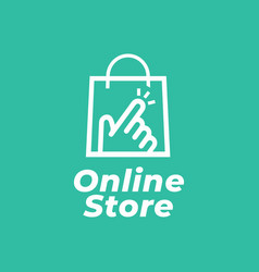 online shop logo for business vector image