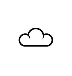 outline cloud icon symbol vector image