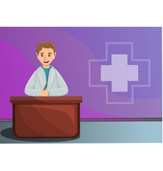 pediatrician concept banner cartoon style vector image