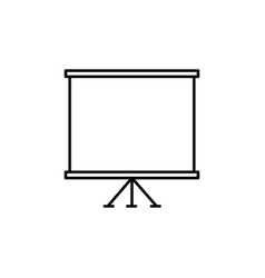 presentation slide board icon vector image