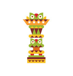 Religious totem pole native cultural tribal vector