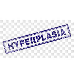 Scratched hyperplasia rectangle stamp vector