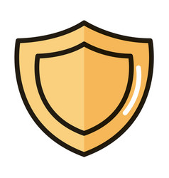 shield protection internet web technology vector image