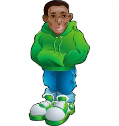 teen youth figure vector image