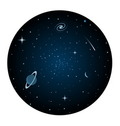 the universe round icon vector image