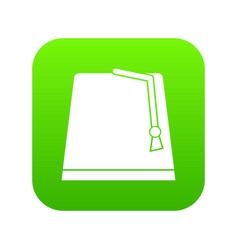 turkish fez icon digital green vector image