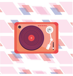 Turntable isolated icon vector