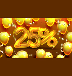 Twenty five percent or 25 marketing offer vector