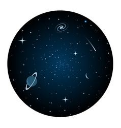 Universe round icon vector