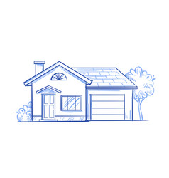 village house vector image