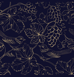 vine seamless pattern for package design old vector image