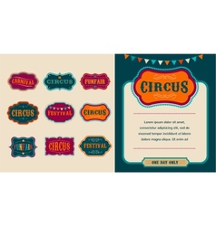 Vintage Circus labels set vector image vector image