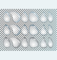 Water drops realistic set isolated on transparent vector