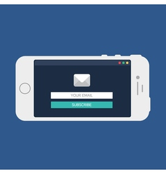 Web Template of Smartphone Email Form vector image