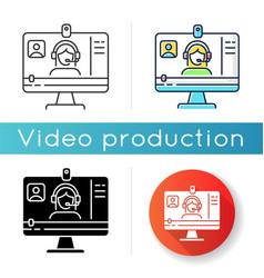 Webinar icon vector