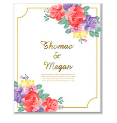 wedding invitation clipart vector image