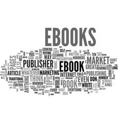 Why market ebooks text word cloud concept vector