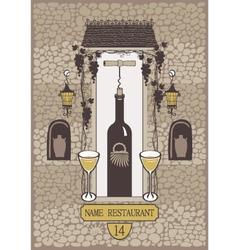 wine wall vector image vector image