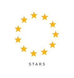 yellow circle stars symbol vector image