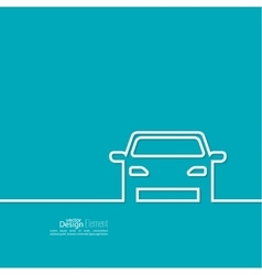 Abstract background with a car vector image vector image