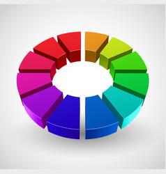 abstract rainbow circle vector image vector image