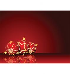 Christmas decorations vector image vector image