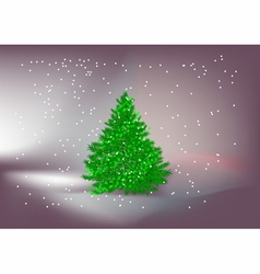 christmas tree outdoors vector image vector image