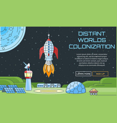 distant worlds colonization background vector image vector image